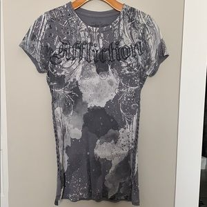 Affliction watercolor series short sleeve shirt
